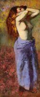 Женщина вголубом с обнаженным торсом (1887-1890) (частная коллекция)