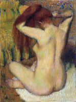 Женщина, расчёсывающая свои волосы (1888-1890) (61.3 х 46) (Нью-Йорк, Метрополитен)