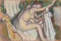 Женщина, вытирающая руку (конец 1880-х - начало 90-х) (30.5 х 44.5) (Нью-Йорк, Метрополитен)