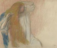Женщина, расчёсывающая свои волосы (1894) (частная коллекция)