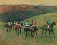 Скачки в поле (1894) (47.9 х 62.9) (Мадрид, Музей Тиссена-Борнемисы)