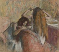 Женщина, расчёсывающая свои волосы (1892-1895) (частная коллекция)