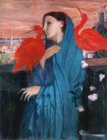 Молодая женщина с Ибисом (1860-1862) (100 х 74.9) (Нью-Йорк, Метрополитен)