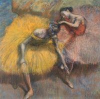 Две танцовщицы в жёлтом и розовом (ок.1898) (10.6 х 10.8) (Буэнос-Айрес, Нац музей изящ.искусств)