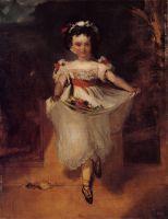 Маленькая девочка с цветами в переднике (1860-1862) (частная коллекция)