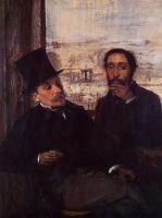 Автопортрет с Эваристо де Вальнернес (1865) (Париж, музей Орсэ)