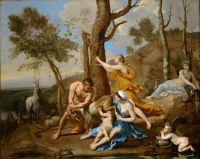 Воспитание Юпитера (середина 1630-х) (96.5 х 121) (Лондон, картинная галерея Далвич).
