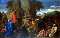 Моисей, иссекающий воду из скалы (1649) (122.5 x 191) (С-Петербург, Эрмитаж).