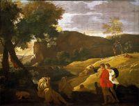 Пейзаж с мифом о Пане и Вакхе (73.6 х 95.6) (частная коллекция)
