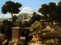 Пейзаж со св.Иоанном Богословом на Патмосе (1640) (100 х 136.4) (Чикаго, Институт искусства)