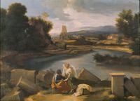 Пейзаж со св.Матфеем и ангелом (ок.1645) (99 х 135) (Берлин, Гос.музей)