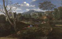 Пейзаж со строениями (1648-1651) (120 x 187) (Мадрид, Прадо)