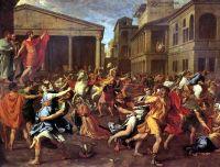 Похищение сабинянок (ок.1638) (159 х 206) (Париж, Лувр)