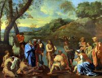 Проповедь св.Иоанна Крестителя на Иордане (ок.1635) (94 х 120) (Париж, Лувр)