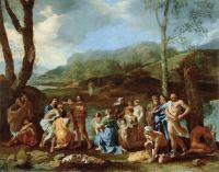 Проповедь св.Иоанна Крестителя на реке Иордан (1630-е) (96 х 121 см) (Лос-Анжелес, музей Пола Гетти)