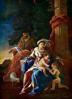 Святое семейство с юным Иоанном Крестителем (ок.1629) (101 х 75) (Карлсруэ, гос.музей)
