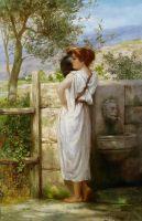 У колодца. 1899
