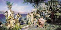 Фрина на празднике Посейдона в Элевзине. 1889. Холст, масло