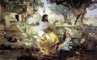 Христос у Марфы и Марии. 1886. Холст, масло