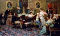 Шопен, играющий на фортепьяно в салоне князя Радзивилла. 1887
