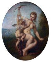 Венера разоружает Амура (47 х 38) (Шантильи, музей Конде).
