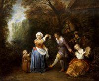 Деревенский танец (1706-1710) (50 x 60) (Индианополис, Музей искусства).