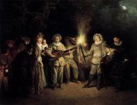 Итальянская комедия (ок.1716) (37 x 48) (Берлин, Гос.музей)