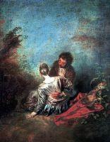 Оплошность (неосторожная игра) (ок.1716-1718) (40 х 31) (Париж, Лувр)