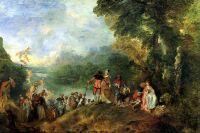 Паломничество на остров Киферу (1717) (129 х 194) (Париж, Лувр).