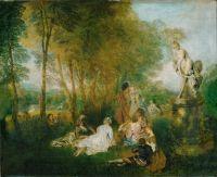 Праздник любви (ок.1717) (61 x 75) (Дрезденская галерея)