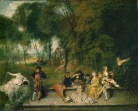 Радости любви (1718-1719) (60 х 75) (Дрезденская галерея)