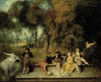 Радости любви (1718-1719) (60 х 75) (Дрезденская галерея).