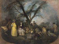 Солдаты на привале (ок.1709) (32 x 42,5) (Мадрид, Музей Тиссена-Борнемисы)
