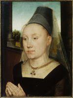 Диптих Виллема Морела (лицевая сторона). Правая панель. Барбара ван Влаендерберг (39.3 x 29.5)