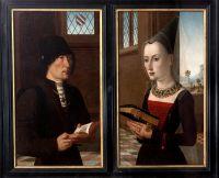 Диптих Пьер Антонио Барончелли + Мария Бончиани (Флоренция, Уффици)