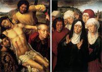 Диптих 'Снятие с креста' (ок.1492-1494) (левая панель - 53.6 х 38.2, правая панель - 53.8 х 38.3) (Гренада, капелла)