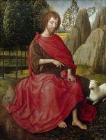 Диптих. Левая створка. Св.Иоанн Креститель (внешняя сторона) (ок.1470-1475) (31.2 x 24.4) (Мюнхен, Старая пинакотека)