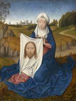 Диптих. Правая створка. Св.Вероника с платом (внешняя сторона) (ок.1470-1475) (31.2 x 24.4) (Вашингтон, Нац. галерея).