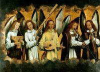 Запрестольный образ Санта-Мария ла Реаль в Наджера_левая панель. Музицирующие ангелы (170 x 231.5)