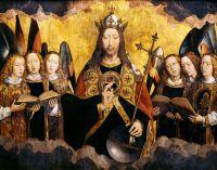 Запрестольный образ Санта-Мария ла Реаль в Наджера_Центральная панель. Христос-Вседержитель с поющими ангелами (212.7 x 169.7)