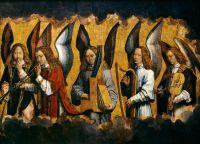 Запрестольный образ Санта-Мария ла Реаль в Наджера-правая панель. Музицирующие ангелы (170 x 231.5)