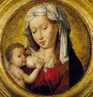 Мадонна с младенцем (тондо) (1475-1499) (17 см) (Антверпен, Музей Майера ван дер Берга)_