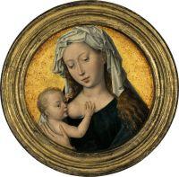 Мадонна с младенцем (тондо) (ок.1487-1490) (17.4 см) (частная коллекция) (оценочная стоимость от 6 до 8 млн.долларов)