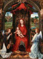 Мадонна с младенцем и двумя музицирующими ангелами (ок.1480) (57 x 42) (Флоренция, Уффици)