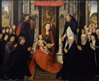 Мадонна с младенцем, св.Иаковом и св.Домиником, представляющими донаторов (130 х 160) (Париж, Лувр)