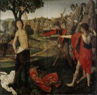 Мученичество Св.Себастьяна (ок.1475) (67,4 х 67.7) (Брюссель, Королевский музей изящ.искусств)
