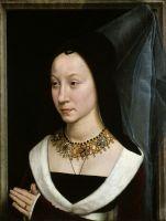 Парный портрет-Мария Портинари (Мария Магдалена Барончелли, родилась 1456) (ок.1470) (44.1 x 34) (Нью-Йорк, Метрополитен)