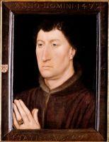 Портрет каноника Жиля Жойе (1472) (30.5 x 22.4) (Уилльямстаун, Институт искусств Стерлинга и Франсин Кларк)