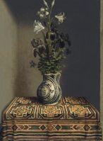 Портрет молодого человека (оборотная сторона). Марианские цветы (1485-1490) (29,2 x 22,5) (Мадрид, Музей Тиссена-Борнемисы)