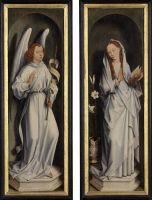 Триптих аббата Яна Краббе (1467-1470) (закрыт). Благовещение (83,2 x 26.5 - каждая створка) (Брюгге, Гос.музей)